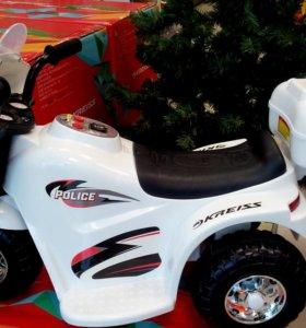 Мотоцикл, скутер Kreiss Полиция 6V4.5AH новый
