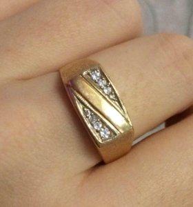 Золотое мужское кольцо/перстень/печатка