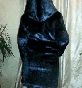 Новая шуба из эко меха под черную норку