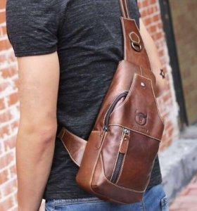 Мужской рюкзак(нагрудная сумка)кабура