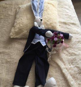 Заяц интерьерный свадебный 1 метр