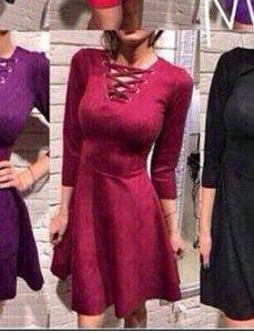 Марсаловое платье