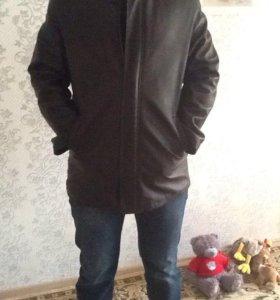 Пальто кожаное 54-56 размер