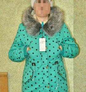 Новая зимняя куртка парка р.44