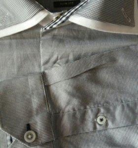 Приталенная мужская рубашка Zara 44-46