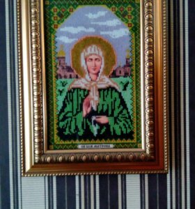 Картина бисером икона Матроны