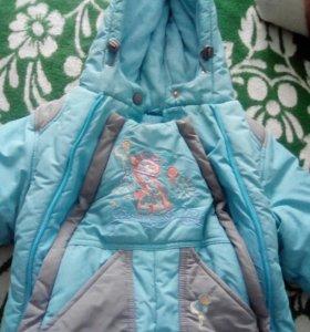 Комбенинзон детский зимний очень теплый в хорошем