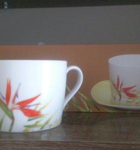Чашки, блюдца Чайный набор новый