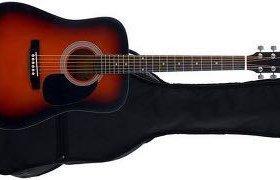 Акустическая гитара fender + чехол