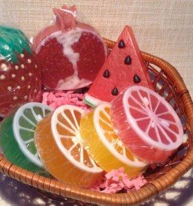Мыло ручной работы фрукты