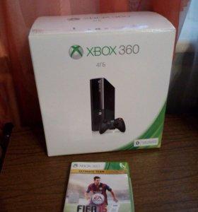 Xbox 360 slim 4 gb + FIFA 15,FIFA 14