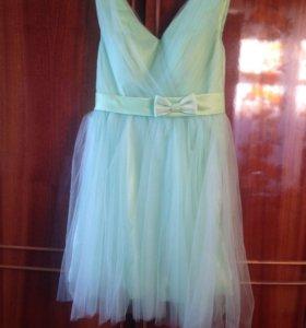 Бальное короткое платье
