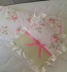 Бортики, юбка, подушечка для кроватки