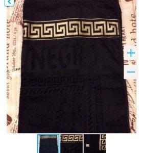 Новое большое черное полотенце