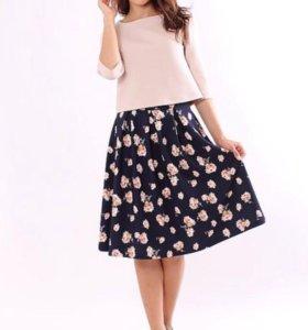 Комлект юбка+блуза. Новый