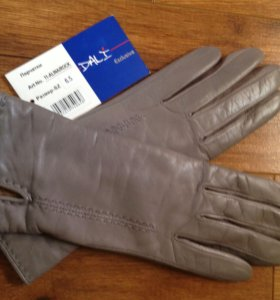 Новые супер перчатки. Кожа. Шерсть. 6,5р.