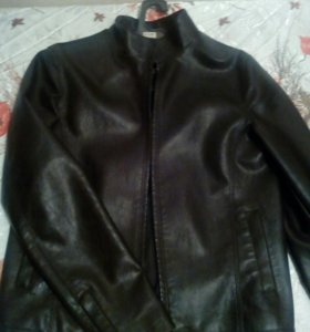 Куртка мужская кожзам. Цвет коничневый
