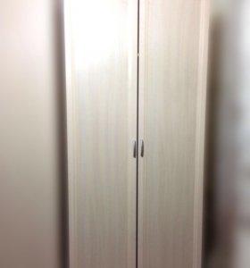 Шкаф двухдверный для одежды и белья узкий
