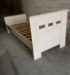 Кровать 900мм с прямой спинкой
