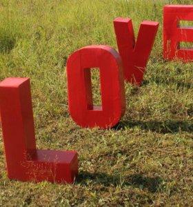 Буквы Love.
