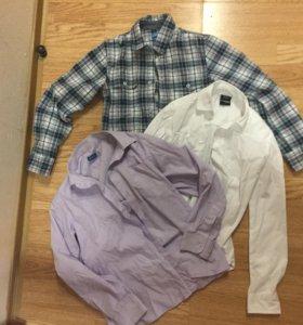 3 рубашки на мальчика 9 лет ( разм. 32)