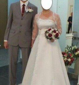 Свадебное платье +туфли+болеро