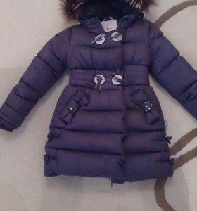 Пуховик зимний для девочки, очень теплый!