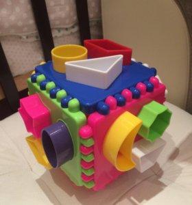 Развивающая игрушка. Сортер. Куб