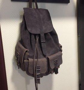 Рюкзак. Замша.