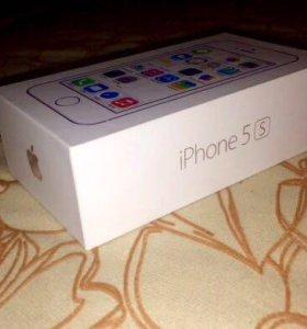 Коробка от iPhone 5s серебристого