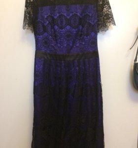 Платье с тончайшим кружевом