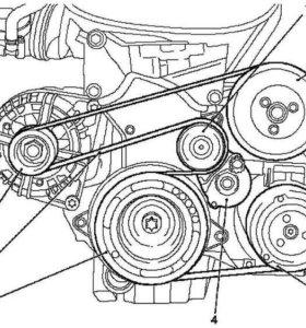 Ремень генератора кондиционера Opel chevrolet