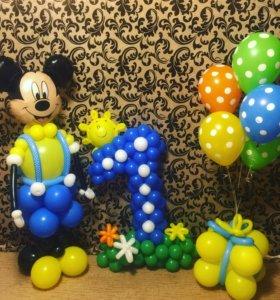 Игрушки, ромашки, букеты из воздушных шаров
