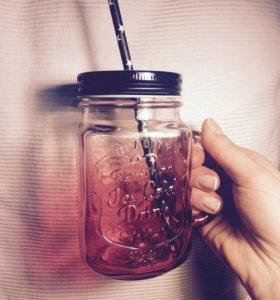 Mason Jar баночка с ручкой