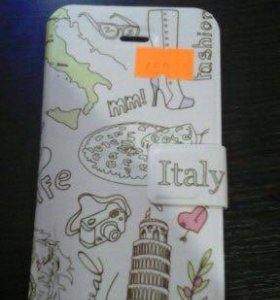 Чехол книжка на iPhone 5 5S 5SE italy