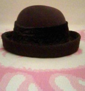 Шляпа из фетра корич. р. 55