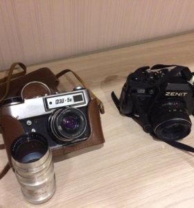 Два фотоаппарата +объектив!