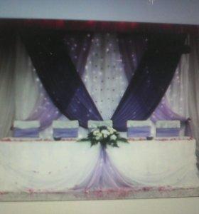 Оформление банкетного зала на юбилей, свадьбу