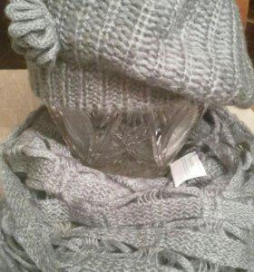 Комплект новый (шапка + шарф)