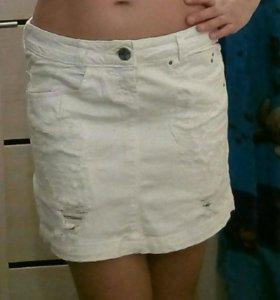 🌼Белая джинсовая юбка🌼