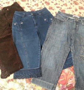 Укороченные брюки/ бриджи (джинсовые, вельветовые)