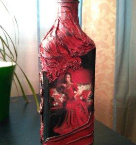 Декоративная бутылка (декупаж)