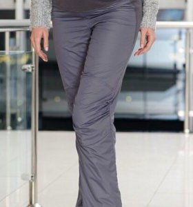 Утепленные на флисе  зимние брюки для беременных