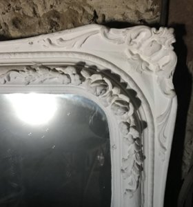 Зеркало ободок гипс