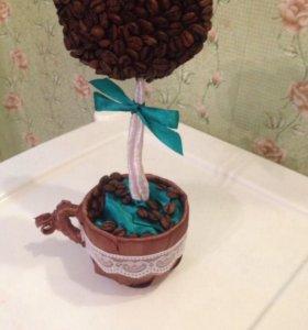 Кофейное дерево, топиарий