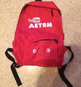Рюкзачок от YouTube ( подарили на мероприятии)