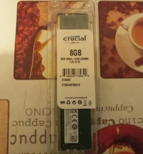 Оперативная память Crucial DDR4 2133MHz CL15 8Gb