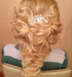 Причёски,плетение,локоны,свадебные прически