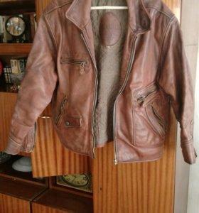 Кожанная куртка бренда Охник США