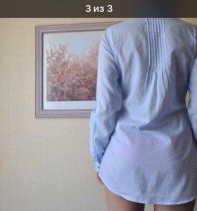 Хлопковая рубашка в тонкую полоску